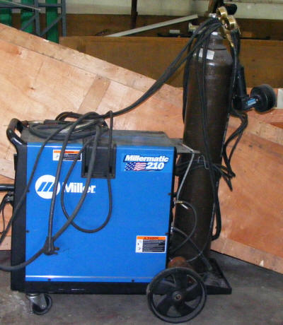 Mig Welder For Sale >> Miler Millermatic Mig Tig 210 Welder With Spool Gun And Tank
